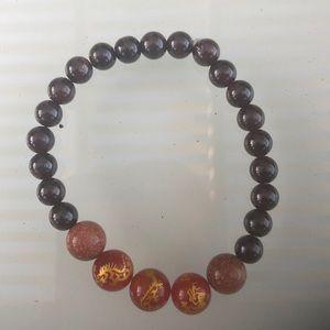 Jewelry - Garnet, Goldstone and Carnelian Bracelet